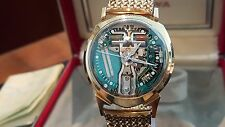 1961 Original  Bulova Accutron 14K Solid Gold Alpha Spaceview Watch Champion bnd
