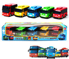 NEW TAYO The Little Bus 5 Cars Set Wind UP Toys Children's Kids Birthday Gift