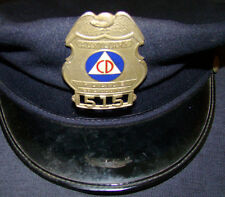 WWII CIVIL DEFENSE 2 OBSOLETE AUXILIARY CD POLICE BADGES LOT RARE SHERIFF DEPUTY