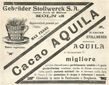 Y2162 Cacao Stollwerck marca Aquila - Pubblicità del 1903 - Old advertising