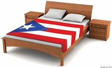 "Fuzzy Flags™ Puerto Rico Flag Fleece Blanket 80""x50"" Oversized Throw Cover Rican"