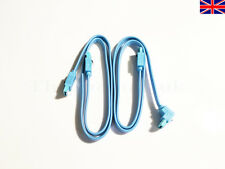 2x Quality SATA 3 6GB/s Cables Light Blue Right Angle Straight Cable UK