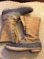 VINTAGE LL BEAN MEN'S SIZE 9 DUCK HUNTING 11  INCH BOOT MADE IN MAINE 10 EYELETS