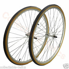 27 X 1 1/4 Alloy Front Rear Wheels Tyre Quick Release Vintage Bicycle Bike Pair