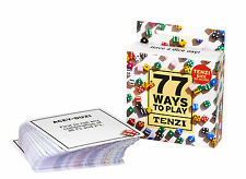 77 Ways to Play TENZI Dice Game Card Deck (Dice Not Included) Carma Games
