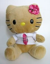 Hello Kitty Retired Plush Rose Tan Tropical Shirt & Tie Smallfry 2012 Build Bear