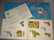 X19/  Originaler Ideal Spielzeug  Waffen Katalog 1964 mit  Englische Preisliste