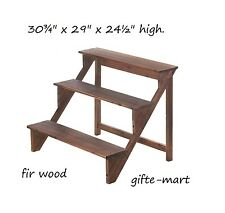 wood 3 tier stair Shelf Flower pot planter shelves Plant Stand candle station