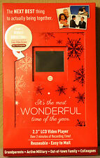 Video Holiday Greeting Card * 2 Minute Recordable LCD Video * Color Screen
