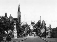 CHURCH BRIDGE BRESLAU SILESIA GERMANY OLD BW PHOTO PRINT POSTER ART 429BWLV