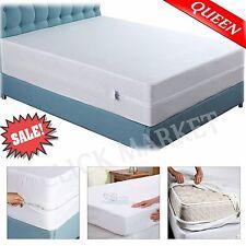 Mattress Cover Box Spring Encasement Bed Bug WaterProof Zipper Protector QUEEN