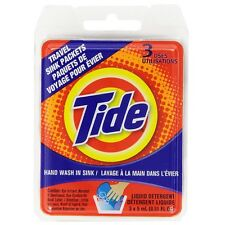 Tide Liquid Detergent Travel Sink Packets 3 ea