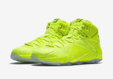 Nike Lebron James XII 12 EXT SZ 13 Volt Tennis Ball Black SP PRM Neon 748861-700