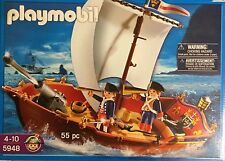 Playmobil Pirate 5948 Royal Red Coat Soldiers Ship Boat NISB