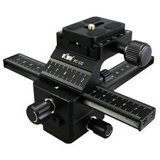 KIWI 4 Way Macro Focusing Rail Slider Set For Photography Nikon Canon SLR Camera