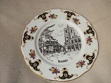 VINTAGE COLLECTABLE DISPLAY PLATE ASHLEY DOWN CHINA KNOWLE CHURCH SOLIHULL