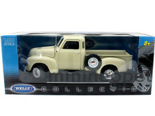 WELLY 19836 1953 53 CHEVROLET 3100 PICK UP TRUCK 1/18 DIECAST CREAM