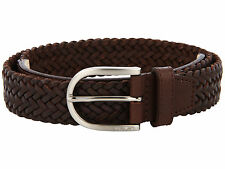 $70 Lacoste Mens Brown Genuine Leather Belt Size 42 Authentic