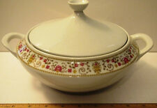 Vintage Wiuterling Coverd Serving Dish w/ Lid Bavaria Germany White Porcelain