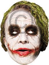 JOKER CARD Faccia Maschera Accessorio per batman cattivo CIRCO Carnevale Costume