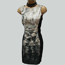 Rare Karen Millen Ombre Tribal Snake Print Wiggle Pencil Cocktail Dress 14/12 UK