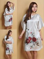 New Sleepwear Robes Pyjama Women's White Night Dress Oriental Kaftan Nightwear