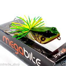 FISHING JUMP FROG LURE TOP WATER BAIT BASS HANDCRAFT RESIN GREEN TACKLE HOOKS