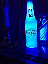 NBA Los Angeles Lakers Basketball 12oz Beer Bottle Light LED Bar Man Cave