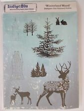 INDIGOBLU A5 CLING MOUNTED RUBBER STAMP - WINTERLAND WOOD