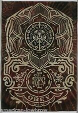 Obey Giant Shepard Fairey Poster Print Peace Ornament Flower Lotus