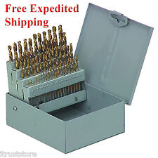 60 Piece Titanium Nitride Coated Numbered Drill Bit Set Brand New Free Shipping