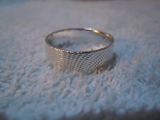 NEW PURE SILVER .999 BULLION SZ91/2 MENS RING HAND MADE BY ANARCHY JEWELRY #BV69