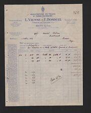 RONCQ, Rechnung 1929, Vienne & Bonduel Tissage de Toiles et Coutils