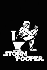 Stormtrooper On The Toilet Star Wars Funny Humor Print Silk POSTER 20x30