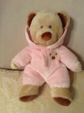 TY 2012 Pluffie Plush Bear with Non removable Pink PJ's Lovey Girls