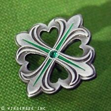 CROSS FLEUR-DE-LIS HEARTS SHAMROCK FOUR-LEAF CLOVER GOOD LUCK PIN BOXED GIFT