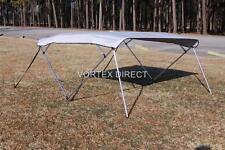 "NEW VORTEX 4 BOW PONTOON/DECK BOAT BIMINI TOP 10' LONG, GREY, 91-96"" WIDE"