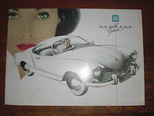 Prospekt Sales Brochure VW Karmann Ghia Volkswagen Coupé Auto Car автомобиль
