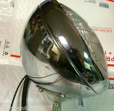 Harley Panhead Hydra-Glide Guide Headlamp Chrome 1949-1959 Servicar Headlight 6V