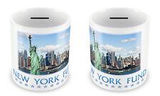 NEW YORK Fund Money Box - USA Piggy bank Gift Idea Holiday Savings Great #36