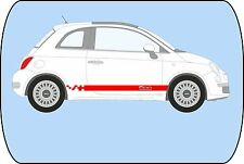 FIAT 500 ROUGE échelonnés damiers side stripes autocollants graphiques stickers A738