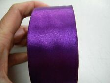mercerie 1m de ruban satin 4cm largeur article neuf couture violet
