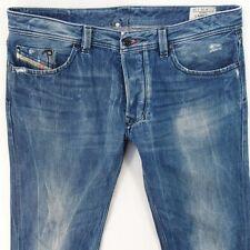 Para Hombre Diesel Larkee 008AT Azul Calce Recto Regular Jeans W36 L32