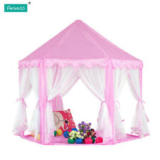 2016 Pink Princess Castle Play House Children Fun Netting Outdoor Kids Play Tent