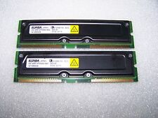 Matching pair of 512MB (1GB total) PC800-40 RDRAM RAMBUS RIMM, TESTED