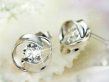 YJ007 Rotating Love Earring Women Girl 925 Sterling Silver Fashion Jewelry Gift