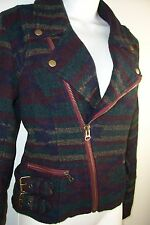 Bass Pro Timberlake 12 10 jacket blazer coat plaid biker cropped green Shirt