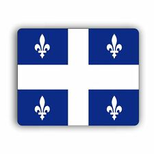 Quebec Provincial Flag Computer Mouse Mat Pad Desktop PC Laptop