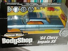 ERTL 1964 CHEVY IMPALA SS BLUE HARDTOP MODEL KIT 1/18 BODY SHOP SERIES