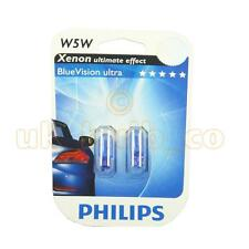 12V 5W PHILIPS SIDE LIGHT BULBS FOR Citroen Xsara Picasso BLUE 501's (W5W T10)